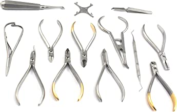 DDP Set of Orthodontic Instruments of 13 Pieces - Stainless Steel - Height Gauge