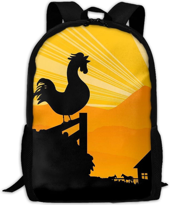 Backpack Laptop Travel Hiking School Bags Morning of Farm Daypack Shoulder Bag