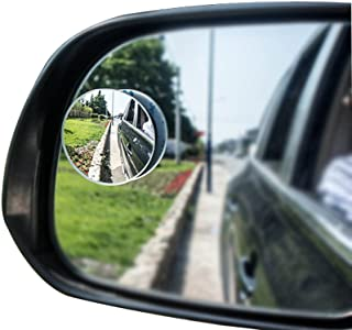 BEESCLOVER 1 Pair Car Rear View Mirror Auto Blind Spot Mirror Wide Angle Convex Mirror for Parking