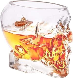 Lucky Shot .308 Real Bullet Handmade Skull Whiskey Glass