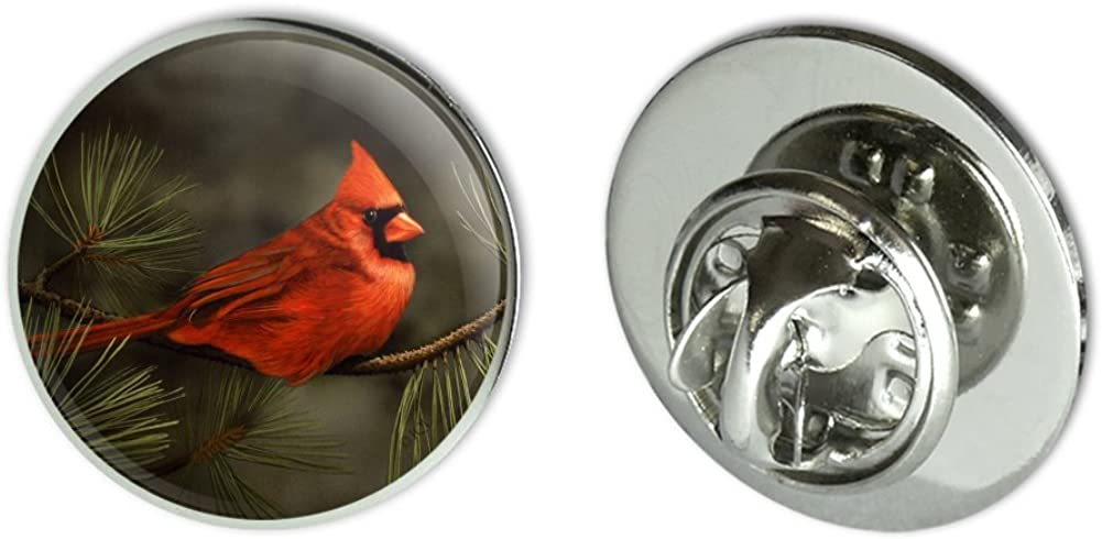 GRAPHICS & MORE Northern Cardinal Red Pine Perch Metal 0.75