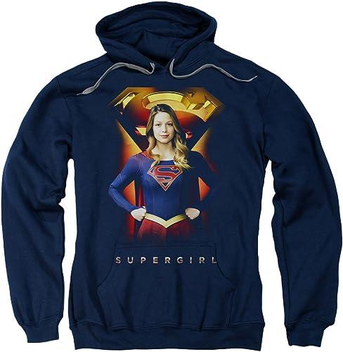 DC Comic Supergirl Symbole Perhommeent Pull sweat à capuche Pour des hommes Navy SM