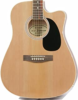 Jameson Guitars Full Size Thinline Acoustic Electric Guitar with Free Gig Bag Case & Picks Natural Right Handed