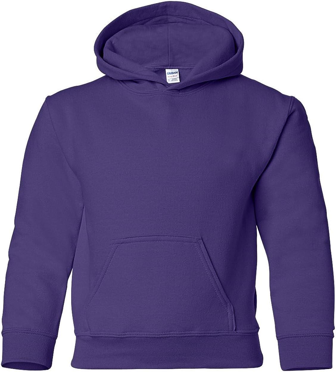 Heavy Blend Hooded Sweatshirt (G185B) Purple, M (Pack of 12)