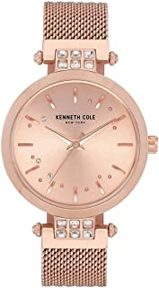 Kenneth Cole Women's Crystal Mesh KC50960002 Gold Stainless-Steel Quartz Dress Watch
