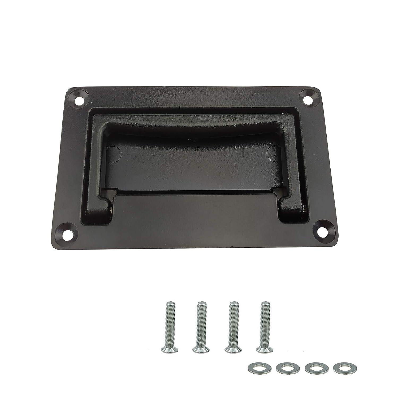 Zinc Alloy Recessed Pull Handles Container Handle Black Flush Lift Door Handles