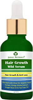 Jadole Naturals Botanical Hair Serum Growth Treatment & Anti Loss with Angelica Oil, Olives, Grape, Ginkgo Biloba, Ginger ...