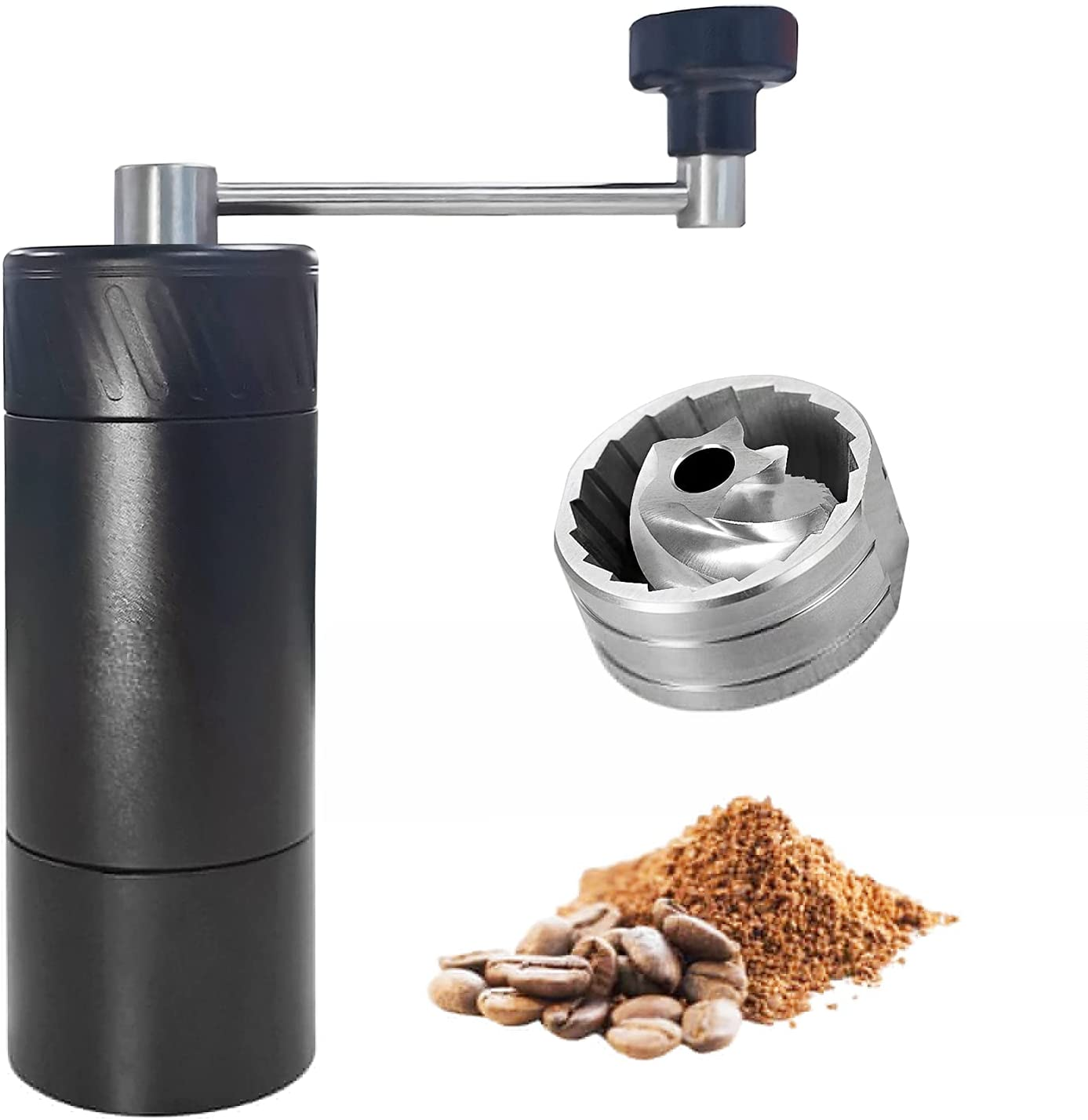 BAIDE PACK Manual Coffee Grinder Assembl with Capacity wholesale 35g Reservation Black