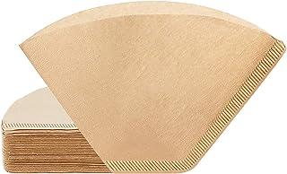 Filtre en papier à café, 200 filtres à café jetables # 4, cône naturel en forme de U, filtre à café non blanchi, adapté à ...