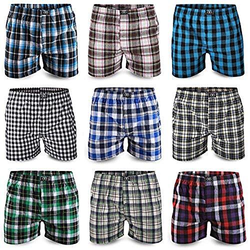 Best Basics Boxershorts Hipster American Style Boxer Unterhosen Baumwolle Herren,XXL,6er Pack (mehrfarbig)