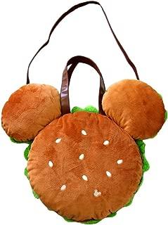 Mickey Mouse Hamburger Plush Tote Bag Tokyo Disneyland /Tokyo Disney Resort Japan Import