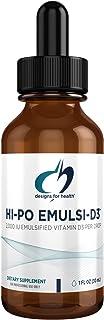Designs for Health 2000 IU Vitamin D Drops - Hi-Po Emulsi-D3 Emulsified Liquid VIT D3, Highly Concentrated 2000 IU Per Dro...