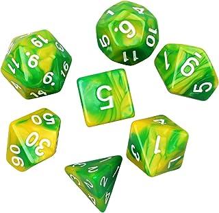 多面体サイコロ アクリル ダイス 7サイズ クトゥルフ神話TRPG などテーブルゲーム用カードゲーム 知育 教育などに
