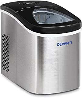 DEVANTI Ice Maker Portable Commercial Ice Cube Machine Stainless Steel 2.4L