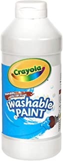 Crayola Washable Paint, White Art Tools, Plastic Squeeze Bottle, Bright, Bold Color, 16 Ounce - 54-2016-053