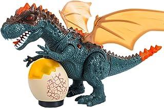 yeesport Glowing Dinosaur Toy Realistic Plastic Flashing Dinosaur Figure for Kids Plastic Dinosaur Figure Flashing Dinosau...