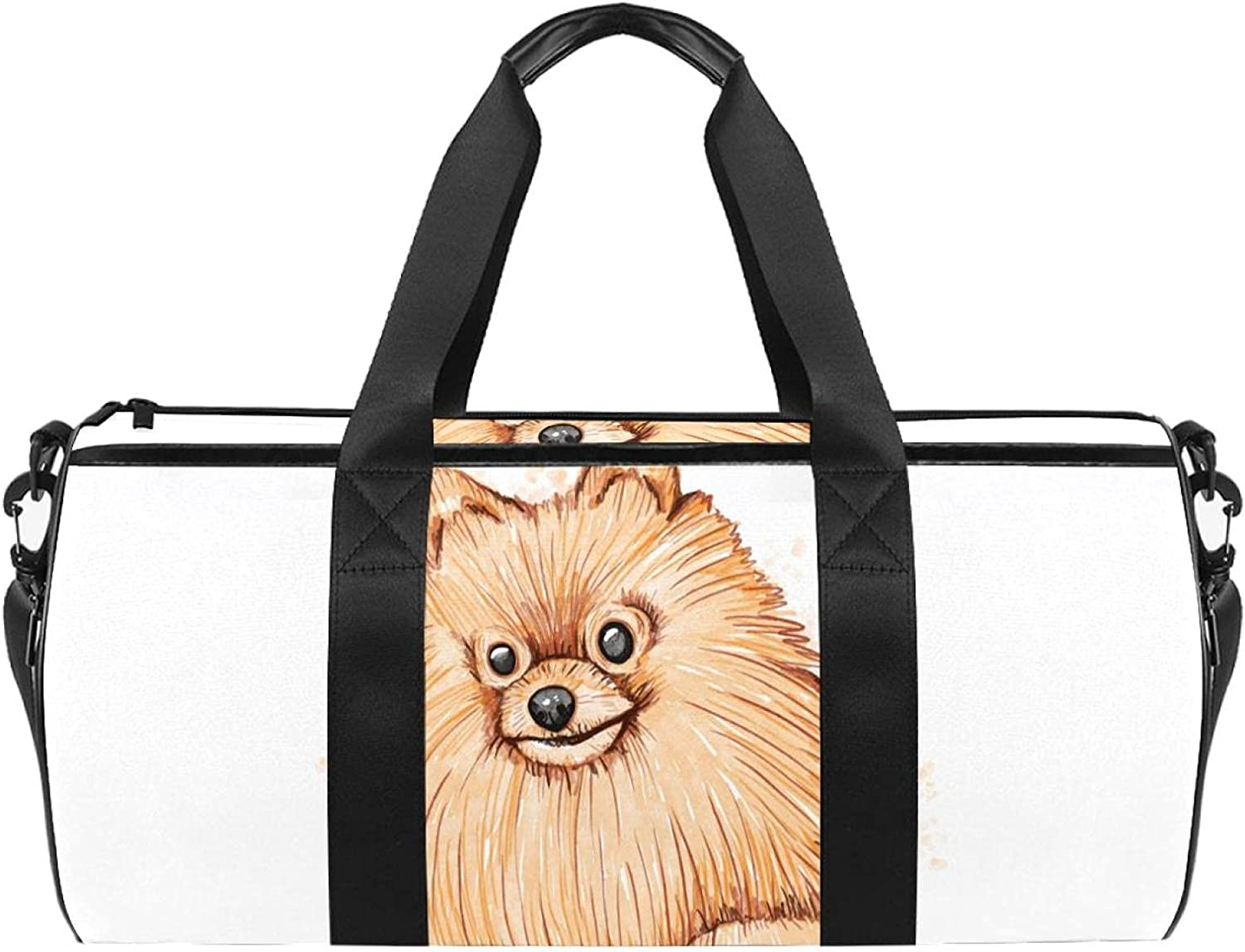 Cute Puppy Small Gym Limited Charlotte Mall time for free shipping Duffel For Bag Workout Lightweight Adults
