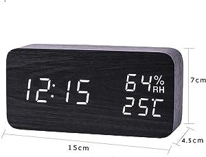WANGZZZ Horloge de Table numérique de Bureau électronique menée Moderne d'humidité de la température de réveil