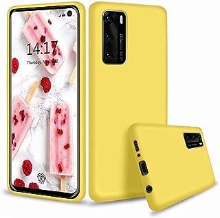 CRABOT Compatible con Huawei P40 Pro Funda Silicona Líquida Parachoques de Goma de Gel Delgado A Prueba de Choques Protect...