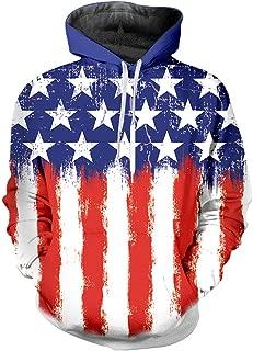 Us American Flag Hoodies for Men Women Cool Sweatshirts Pullover Hoodie with Designs