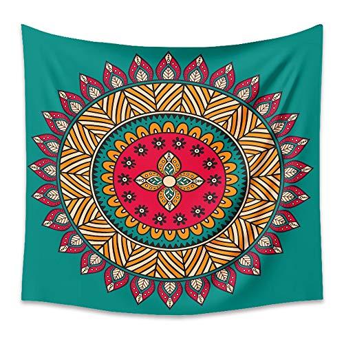 KHKJ Mandala Hippie Indio Tapiz Bohemio Colgante de Pared psicodélico Decorativo Revestimiento de Pared Tela Manta de Pared A8 150x130cm