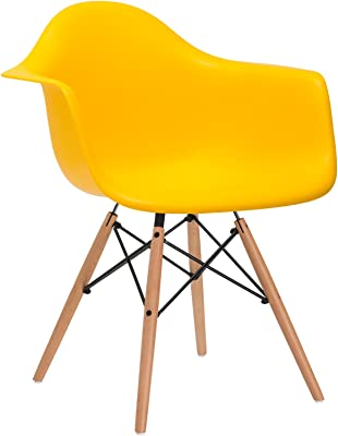 Poly and Bark Vortex Arm Chair, Yellow