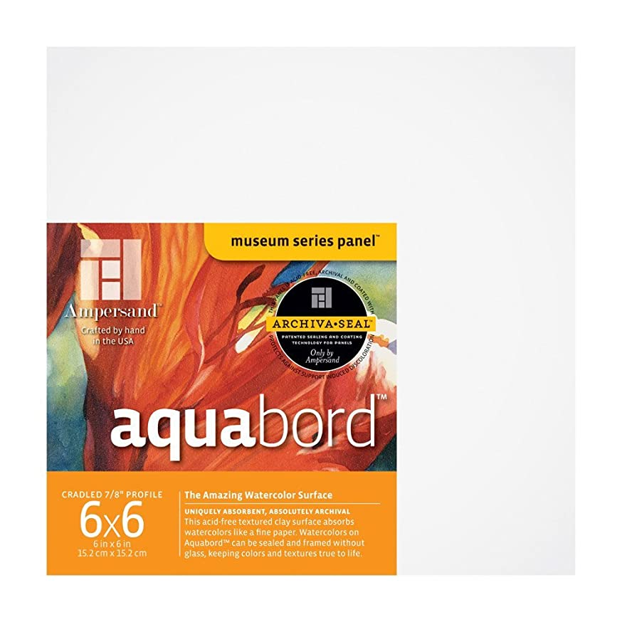 Ampersand Aquabord Panel for Watercolor and Gouache, 7/8 inch Depth, 6X6 inch (CBTC0606)