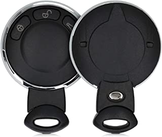 kwmobile Autoschlüssel Gehäuse kompatibel mit Mini 3 Tasten Smart Key Autoschlüssel   ohne Transponder Batterien Elektronik   Auto Schlüsselgehäuse   Schwarz