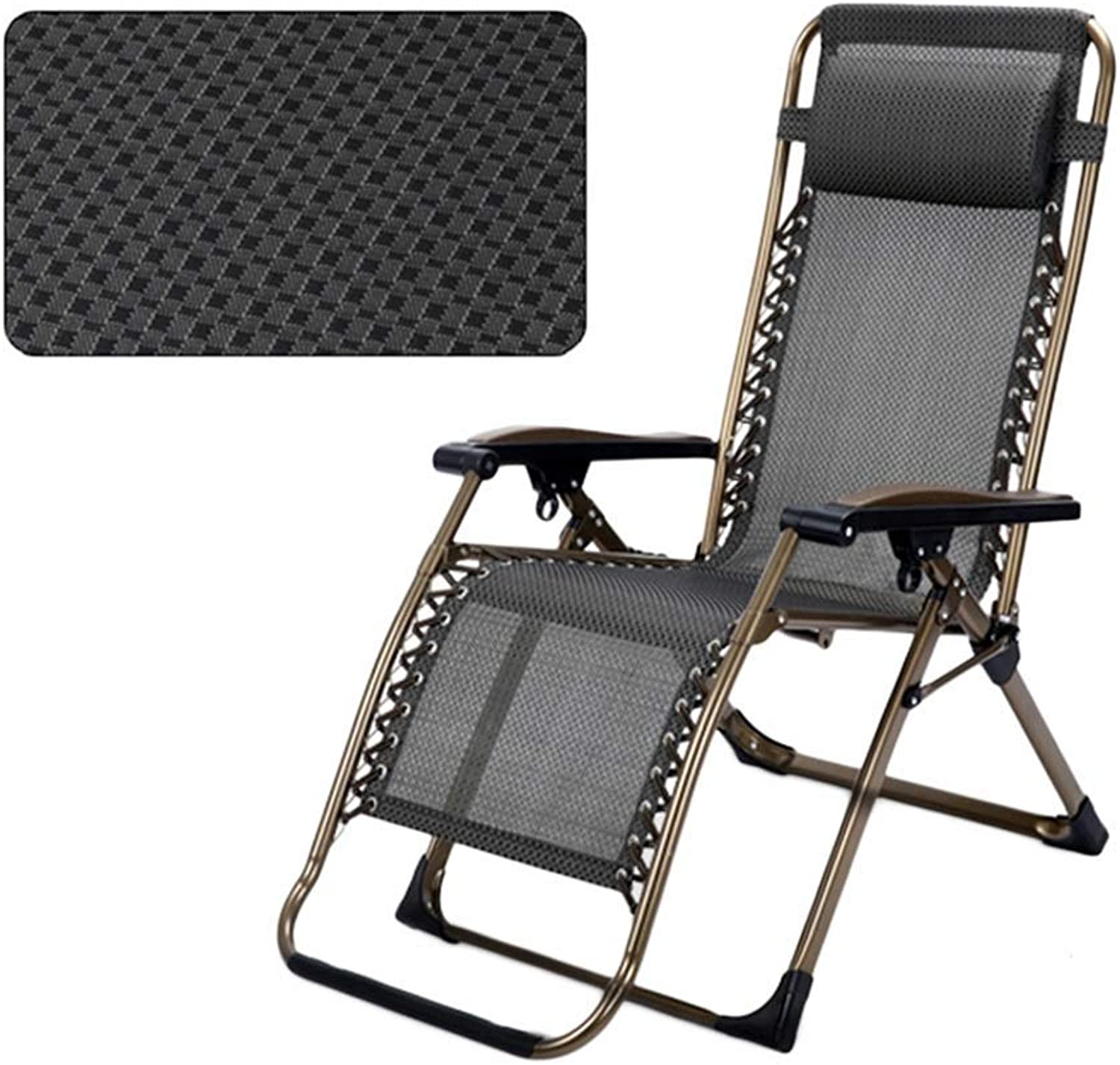 Patio Lawn Chairs Reclining with Adjustable Headrest for Heavy People, Zero Gravity Outdoor Beach Camping Portable Chair, Support 300kg,A