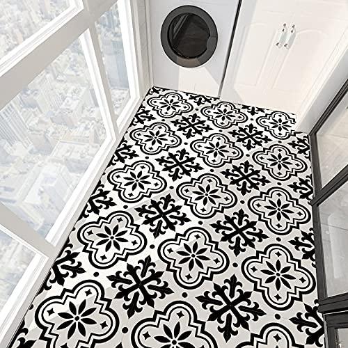 PMSMT 4 unids Moderno Autoadhesivo Cuadrado pelar y Pegar Antideslizante Impermeable extraíble PVC baño Cocina decoración del hogar Pegatina de baldosas