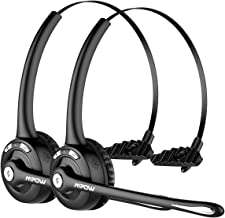 Mpow Pro (2-Pack) Truck Driver Bluetooth Headset/Office Headset, Wireless Over the Head..