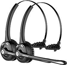Mpow Auriculares Bluetooth de Teléfono Inalámbrico con Micrófono Manos Libres, Cancelación de Ruido, Conversación de 13 Horas, para Teléfono Fijo, Centro de Llamadas, Recepcionista - 2 Unidades
