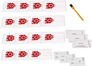Hongfa for Miele FJM Airclean Vacuum Bags,Miele C1 Vcumm Bags(15 Bags 3 Motor Filters and 3 Airclean Filters) for Miele Compact C2 S6000-S6999 S4000-S4999,Compact C1,S700