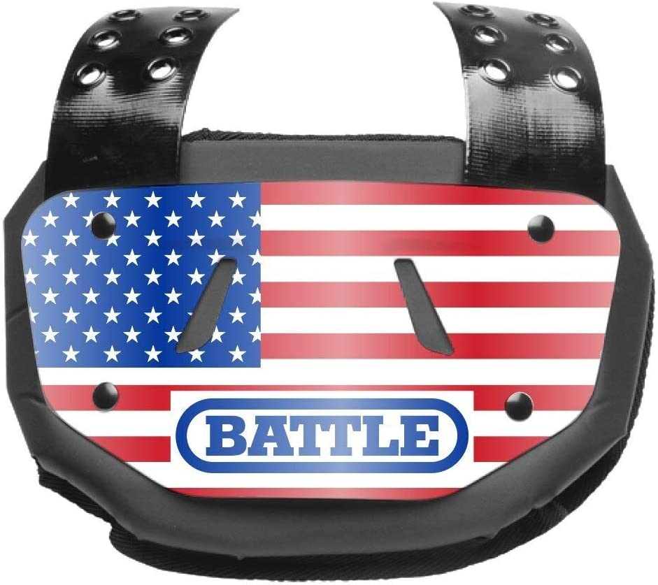 Battle Sports Chrome American Flag Football Back Plate - Red/White/Blue - Youth : Sports & Outdoors