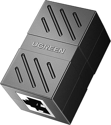 wholesale UGREEN RJ45 lowest Coupler Cat7 Cat6 online sale Cat5e Ethernet Cable Extender Adapter LAN Connector in Line Coupler Female to Female Black outlet sale