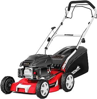 """GREENCUT GLM690X - Cortacésped autopropulsado de gasolina 139cc y 5cv con arranque manual y ancho de corte de 407mm (16"""") con Altura de Corte Regulable"""