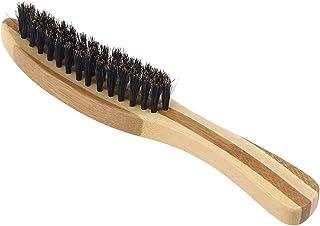 Lurrose 世帯の理髪店のための剛毛のブラシの木製のハンドルの口ひげの毛バスブラシ