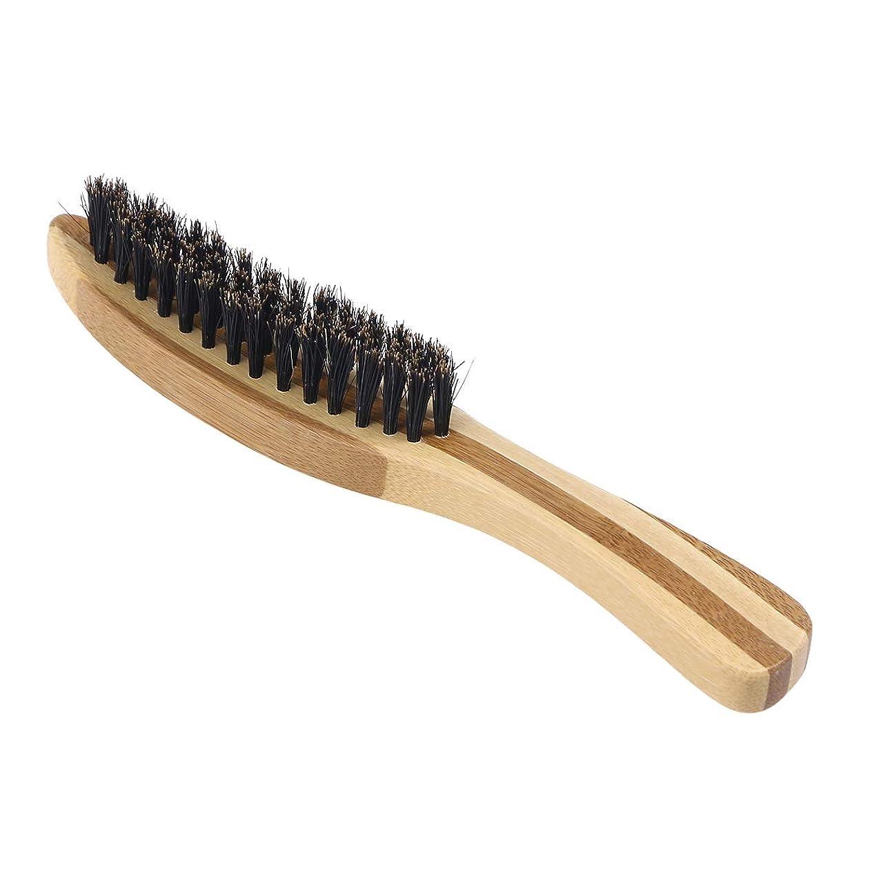 リッチそんなに被害者Lurrose 世帯の理髪店のための剛毛のブラシの木製のハンドルの口ひげの毛バスブラシ