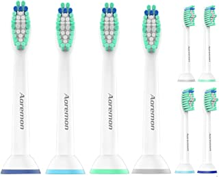 Aoremon Replacement Brush Heads Compatible with Sonicare ProResult HX6014/13 (8 PCS), Fit Philips Sonicare 2 Series Plaque Control, 3 Series Gum Health, DiamondClean, FlexCare, HealthyWhite Toothbrush