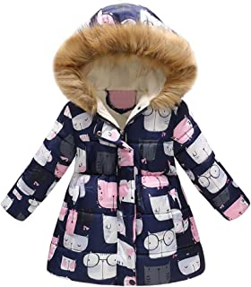 ceacf476cdbc5 GoodLock Clearance!! Baby Boys Girls Winter Warm Coats Toddler Floral  Butterfly Hooded Windproof Jacket