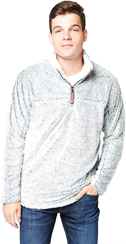 True Grit Vintage Tipped Shag Sherpa ¼ Zip Pullover