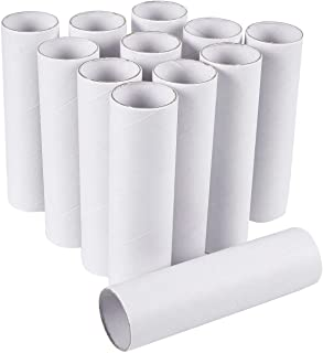Craft Rolls - 12-Pack Cardboard Tubes for DIY Crafts, 5.9 Inches, White