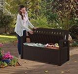 Keter Gartenbank und Kissenbox Patio Bench, Braun, 227L