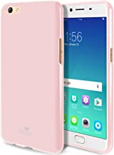 GOOSPERY Marlang Marlang Oppo R9S Case - Baby Pink, Free Screen Protector [Slim Fit] TPU Case [Flexible] Pearl Jelly [Protection] Bumper Cover for Oppo R9S, OPPOR9S-JEL/SP-PNK