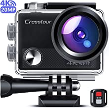 Crosstour CT9100 4K 20MP Action Camera WiFi EIS Remote Control 40M Waterproof Underwater Camcorder with Accessories Kit