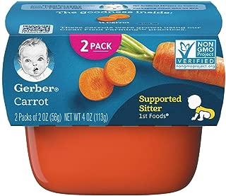 Gerber Purees Foods Carrot Tubs