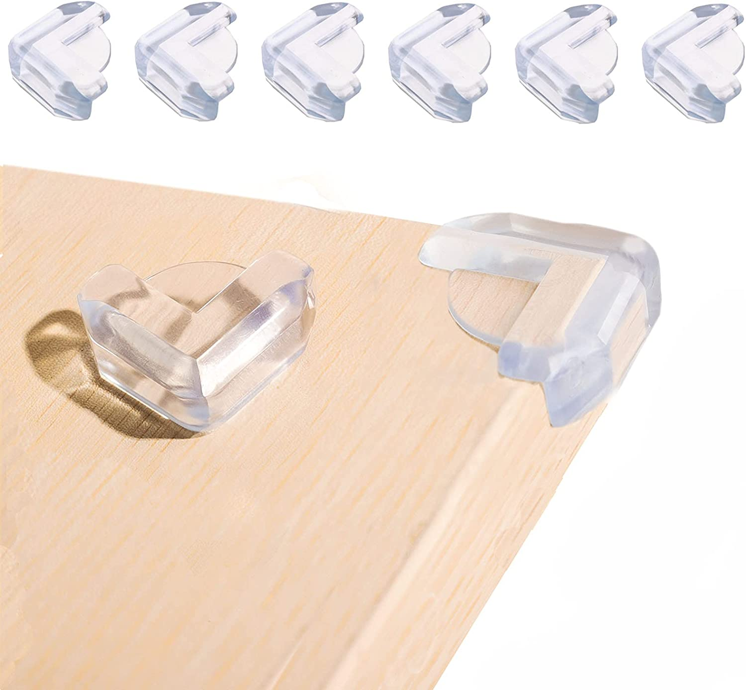 BIAHE Soft Baby Corner Protectors, 8 Pcs Furniture Corner Guards with High Resistant Adhesive, Table Clear Corner Bumpers for Baby Safety, Corner Child Protector for Furniture Against Sharp Corners