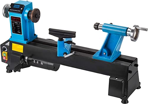 wholesale Mophorn Wood Lathe 10 x 18 Inch,Bench lowest Top Heavy Duty Wood Lathe Variable Speed 500-3800 RPM,Mini Wood Lathe Regulation Digital Display,Benchtop Lathe Strong new arrival Power 550W online sale