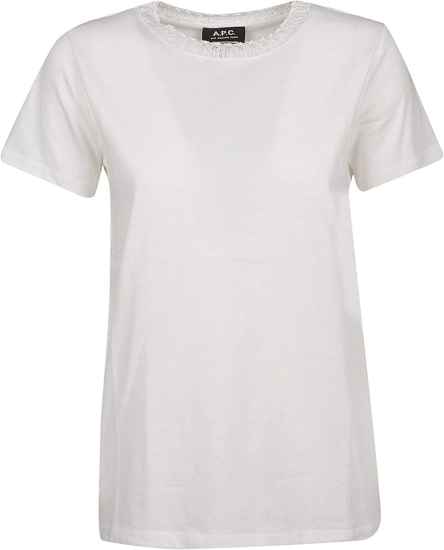 A.P.C. Women's COCZCF26741AABwhite White Cotton TShirt