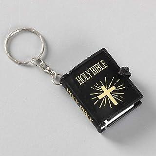 Sainte Bible en noir comme pendentif cl/é